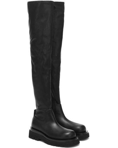 Черные сапоги до середины колена из натуральной кожи Bottega Veneta