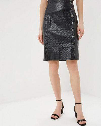 Кожаная юбка черная Tutto Bene