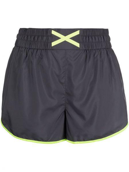 Спортивные желтые шорты с карманами с завышенной талией Marchesa