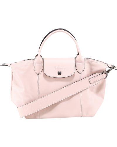 Różowa torba na ramię Longchamp