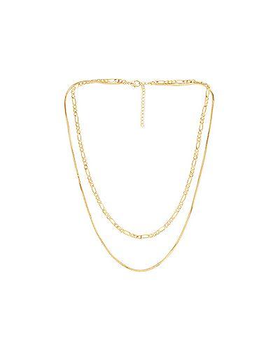 Ожерелье золотое металлическое Luv Aj
