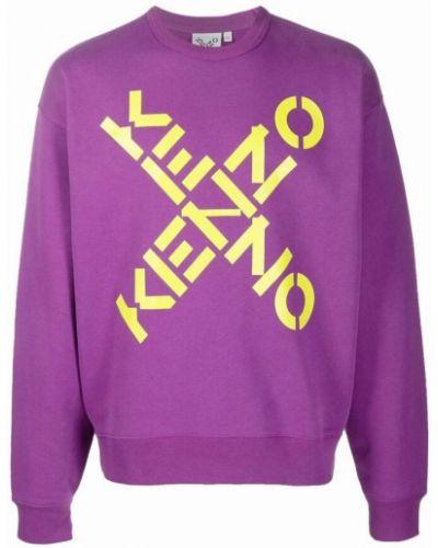 Sweter bawełniany - fioletowy Kenzo