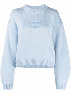 Синий свитер с вышивкой Gcds