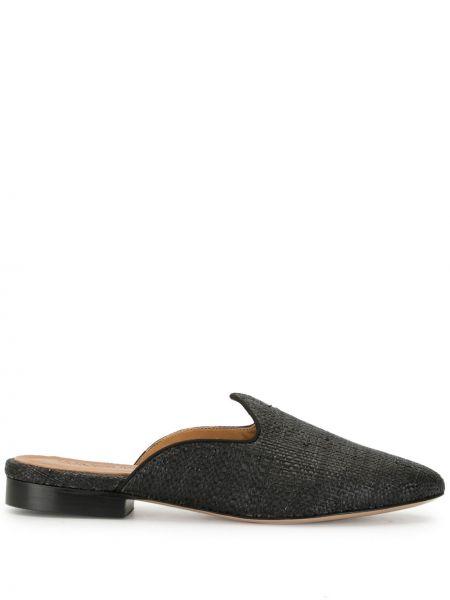 Кожаные черные мюли на каблуке без застежки Le Monde Beryl