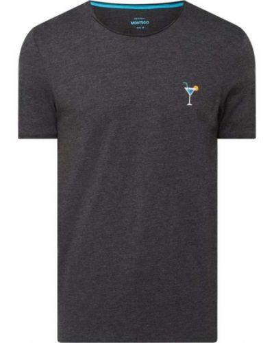 T-shirt bawełniany z haftem Montego