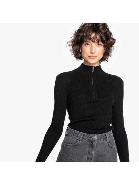 Пуловер с воротником-стойкой в рубчик La Redoute Collections