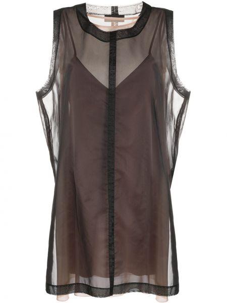 Черное прямое платье без рукавов с вырезом Diesel Black Gold