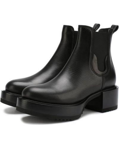 Черные кожаные ботильоны Premiata