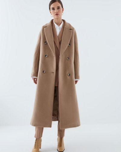 Бежевое пальто с подкладкой Zarina