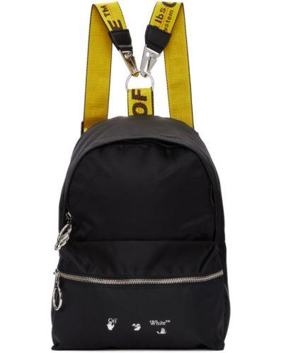 Нейлоновый черный рюкзак с карманами Off-white