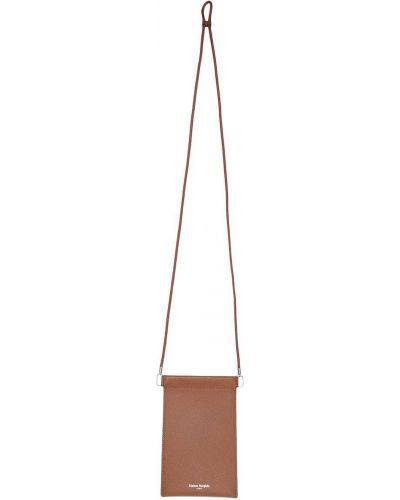 Brązowy z paskiem skórzany torba kosmetyczna Maison Margiela