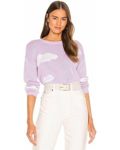 Фиолетовый хлопковый пуловер для полных 525