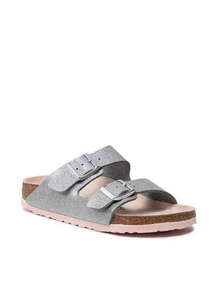 Sandały srebrne Birkenstock
