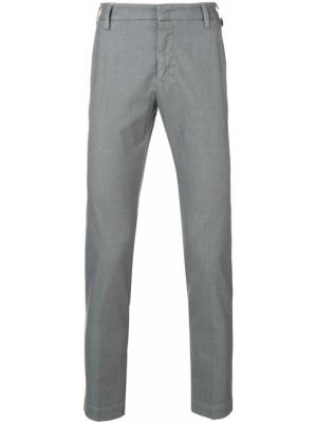 Хлопковые серые брюки с карманами на молнии Entre Amis