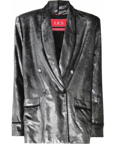 Серебряный однобортный пиджак F.r.s For Restless Sleepers