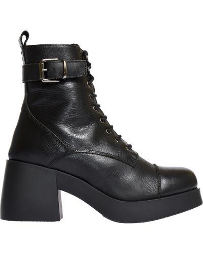 Ботинки на каблуке осенние кожаные Fabio Rusconi
