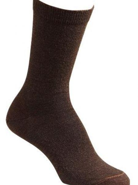 Классические коричневые теплые шерстяные носки Foxriver