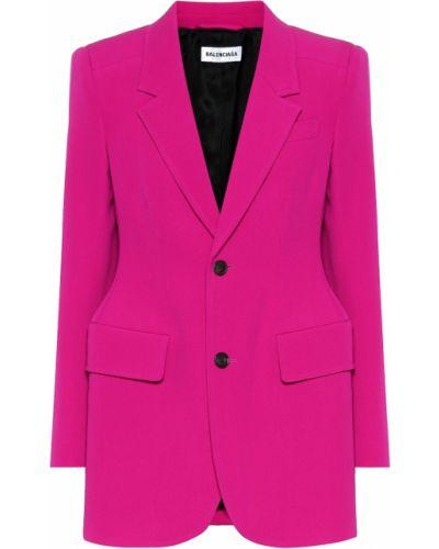 Классический пиджак шерстяной розовый Balenciaga