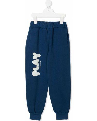 Синие льняные брюки с карманами Bobo Choses