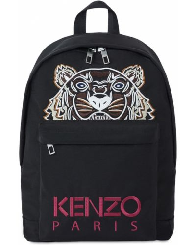 Czarny plecak z haftem z nylonu Kenzo