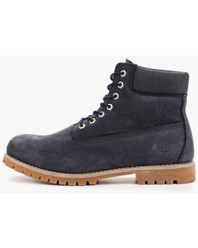 Кожаные ботинки - синие Affex