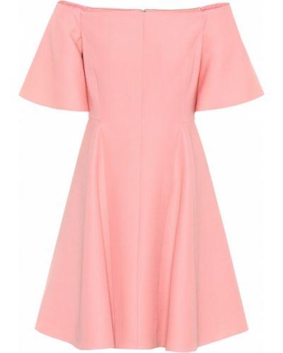 Платье мини розовое коктейльное Valentino