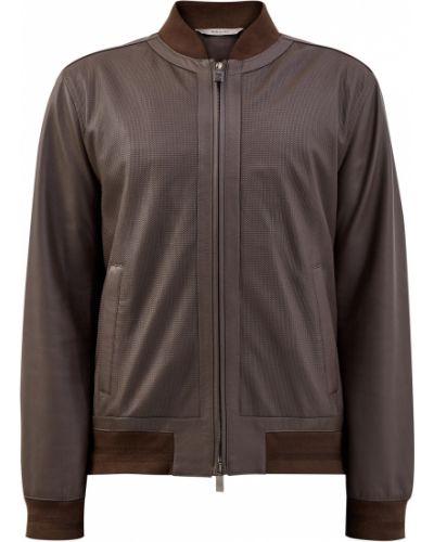 Кожаная куртка на молнии с подкладкой Canali