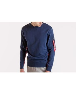 Sweter bawełniany - granatowy Alpha Industries