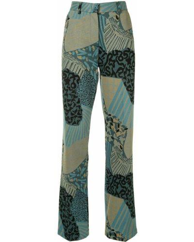 Spodni niebieski spodni garnitur z kieszeniami z wiskozy M Missoni