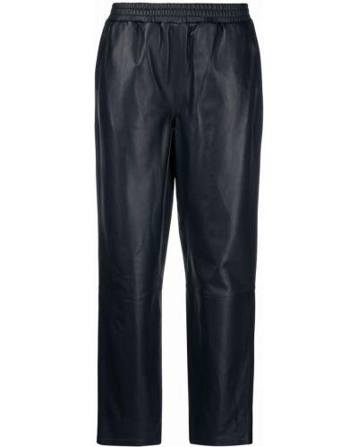 Синие кожаные брюки Arma