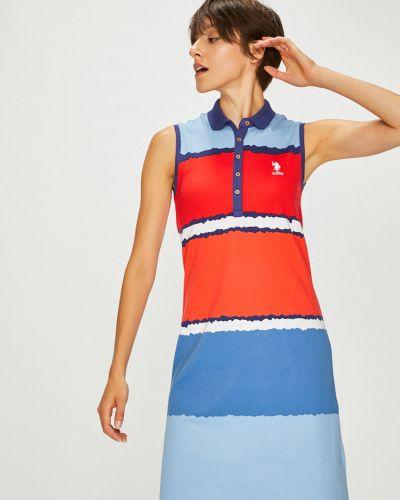 Платье миди прямое на пуговицах U.s. Polo