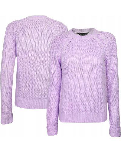 Sweter z warkoczami - fioletowy Dorothy Perkins