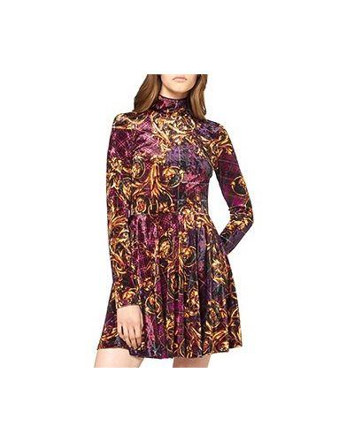 Фиолетовое коктейльное платье Versace Jeans Couture