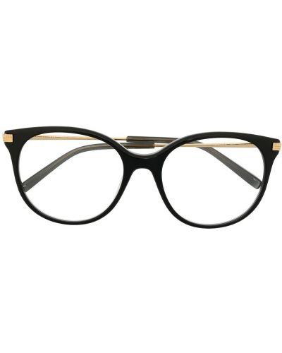 Черные очки металлические оверсайз прозрачные Boucheron Eyewear