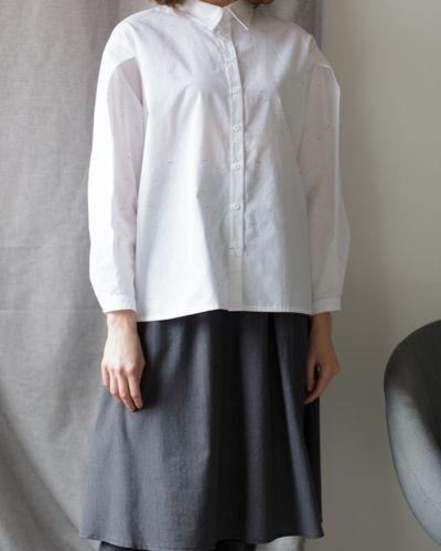 Хлопковая рубашка - белая черешня