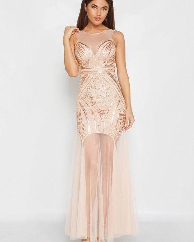 Бежевое платье весеннее Gepur