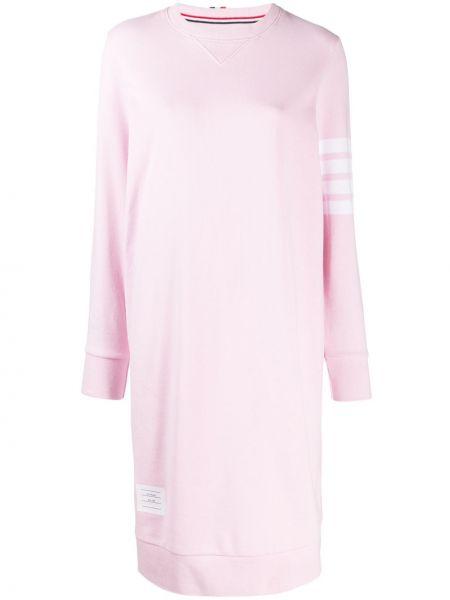 Платье миди в полоску в рубчик Thom Browne