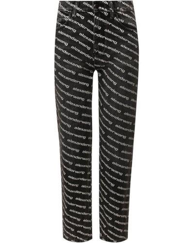 Укороченные джинсы mom белые Denim X Alexander Wang