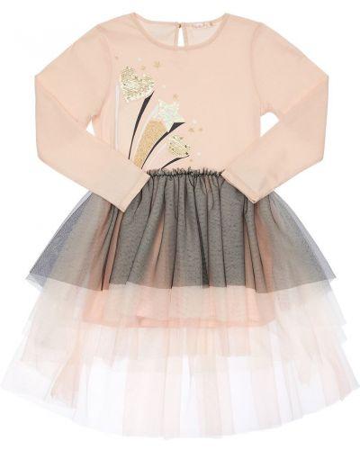Платье макси длинное - розовое Billieblush