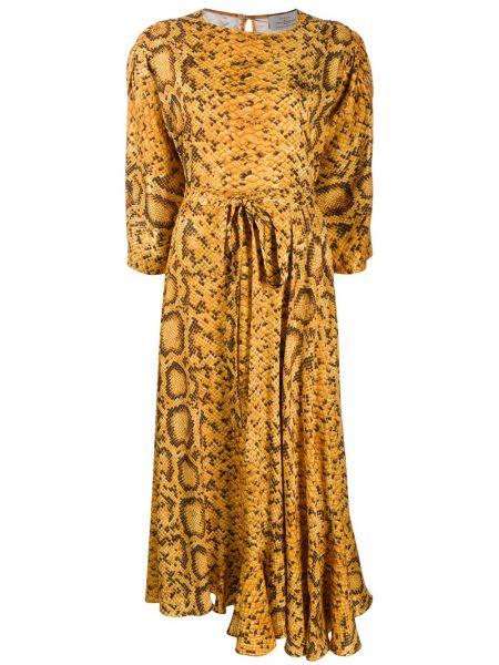 Асимметричное платье Preen By Thornton Bregazzi
