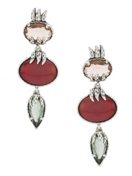 Серебряные серьги металлические с камнями Camila Klein