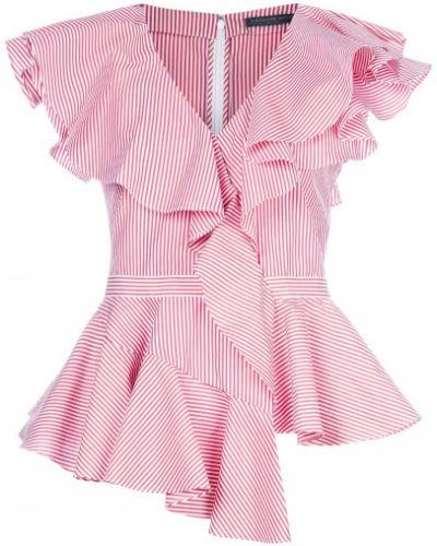 Блузка без рукавов в полоску с V-образным вырезом Alexander Mcqueen
