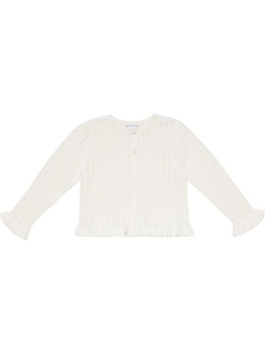 Biały klasyczny kardigan bawełniany Rachel Riley