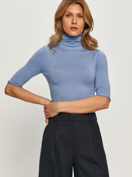 Трикотажный с рукавами тонкий свитер Max&co