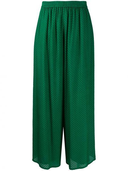 Хлопковые зеленые брюки свободного кроя Roseanna