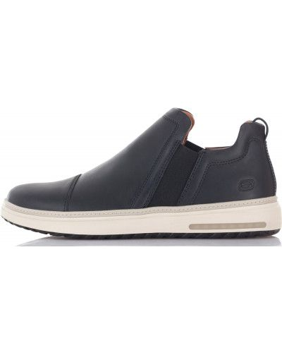 Черные кеды кожаный Skechers