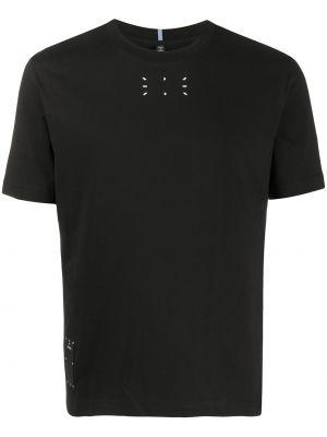 Bawełna prosto czarny koszula krótkie z krótkim rękawem okrągły dekolt Mcq Alexander Mcqueen