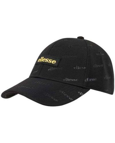 Czarny czapka z daszkiem z paskami Ellesse