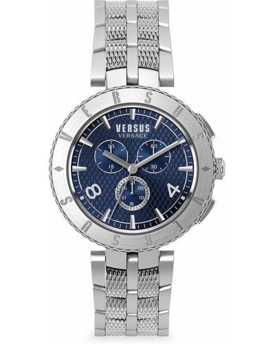 Niebieski zegarek srebrny Versus Versace