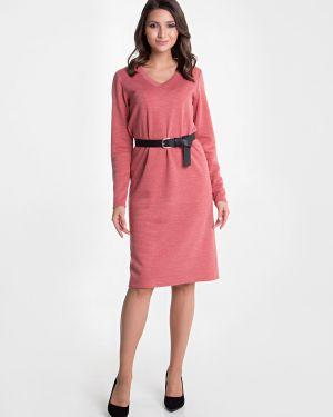 Теплое платье с V-образным вырезом платье-сарафан Mariko